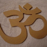 Om Meditation Symbol Mosaic Base Craft Shape Handmade Half Inch thick