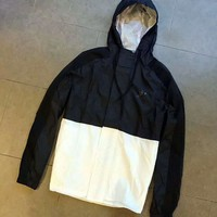 Adidas White/Black Hoodie Windbreaker Jacket One-nice™