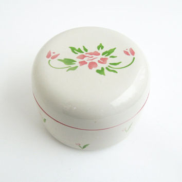 White floral jewelry box trinket box - Made in Japan - Wedding favor bridal shower favors - Ring box keepsake box TB1
