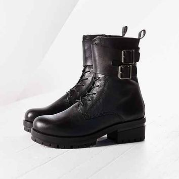 Vagabond Kayla Double Buckle Boot- Black