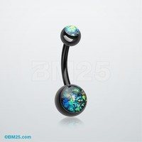 Colorline Opal Glitter Shower Belly Button Ring