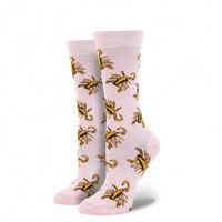 Stance Scorpion 4th and Bleeker Reserve Sock Pink OS Women