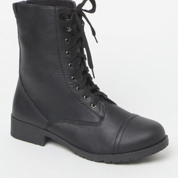 NYLA Shoes Faux Leather Combat Boots at PacSun.com
