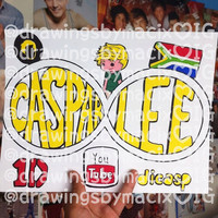 Caspar Lee Infinity Drawing by Drawingsbymaci on Etsy