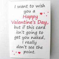 Humorous Valentine Card  Getting Naked Blank by RobeeTwist on Etsy