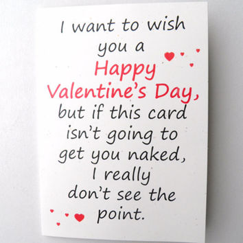 Humorous Valentine Card - Getting Naked Blank (code 001)