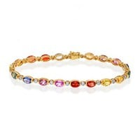 Effy Watercolors 14K Yellow Gold Sapphire and Diamond Bracelet, 11.20 TCW - Watercolors - Collections