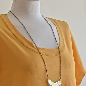 Chevron Necklace- Gold