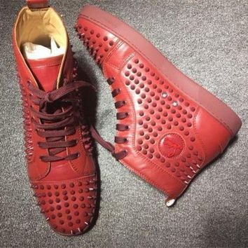 DCCK Cl Christian Louboutin Louis Spikes Style #1874 Sneakers Fashion Shoes