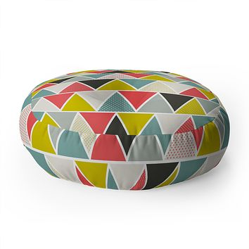 Heather Dutton Triangulum Floor Pillow Round