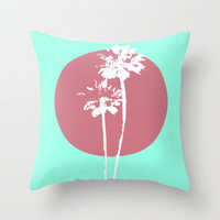 Two Palm Trees Throw Pillow by Bree Madden