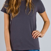 Junk Food Basics Destroyed Pocket Tee - Short Sleeve - Tops - Womens