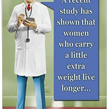 XL Funny Birthday Card - 'A Recent Study' With Envelope - Humorous Happy Birthday Wishes, Greetings Gifts