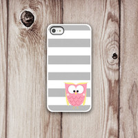 OWL iPhone Case 5 or 4/4s - Iphone case - Iphone 4 case - Iphone 4s case - Iphone Cover - Stripes iPhone Cases by Luv Your Case (217)