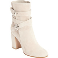 Buckle Strap Mid-Calf Boots