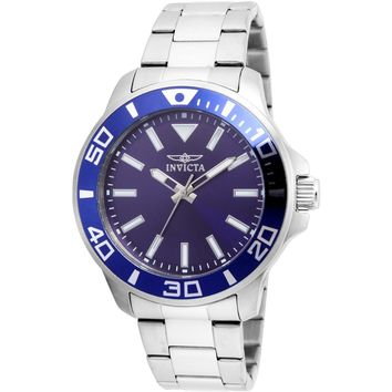 Invicta Men's 21543 Pro Diver Quartz 3 Hand Blue Dial Watch