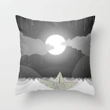 Dream Sea Throw Pillow by Dood_L