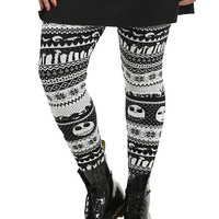 The Nightmare Before Christmas Fair Isle Leggings Plus Size