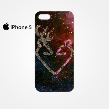 Browning Style Heart Buck Doe Deer Sticker Decal Duck Hunting for Iphone 4/4S Iphone 5/5S/5C Iphone 6/6S/6S Plus/6 Plus 3D Phone case