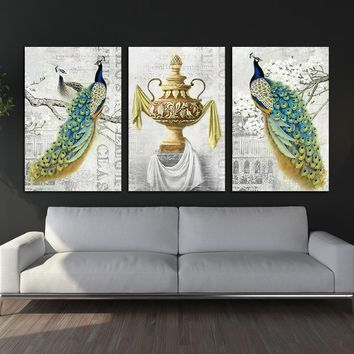Modern wall Peacock Poster Canvas Painting  Art wall picture abstract print and poster picture decor prints on canvas wall art
