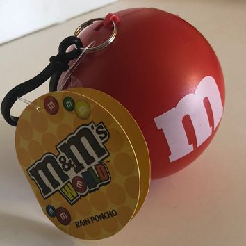M&M's Red Character Rain Poncho Ball One Size New with Tags
