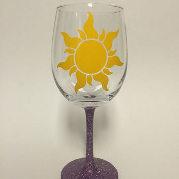 Sun wine glass inspired from Disney's Tangled