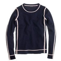J.Crew Womens Collection Cashmere Framed Long-Sleeve Tee