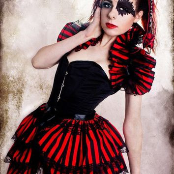 Cirque Du Gothique  BURLESQUE  Bustle Skirt  STEAMPUNK goth By Gothic Burlesque