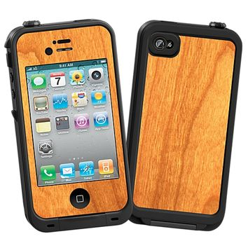 Flat Cut Cherry Skin for the iPhone 4/4S Lifeproof Case by skinzy.com