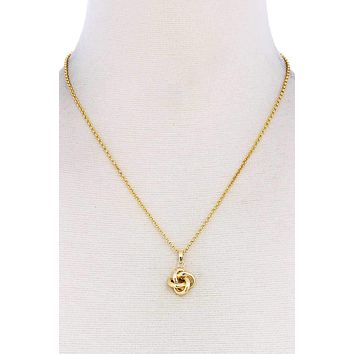 Cute Modern Tied Pendant Necklace