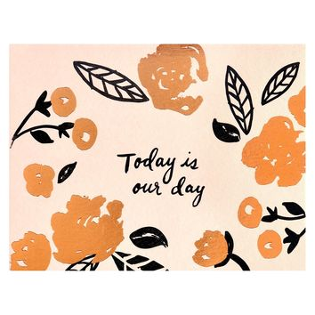 Today is Our Day Wedding Day Card