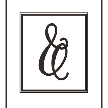 Ampersand, minimal printables, download, contemporary art prints, modern office decor, home office art, ampersand poster, mod wall decor