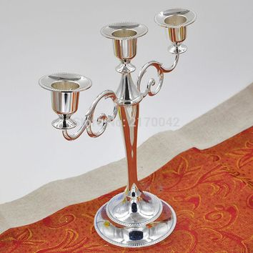 3 Branch Metal Candle Holders