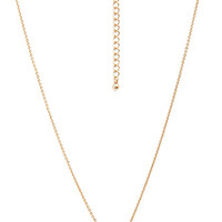 FOREVER 21 Delicate Heart Pendant Necklace
