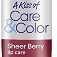 NIVEA Lip Care A Kiss of Care & Color, Sheer Berry 0.17 oz (Pack of 3)