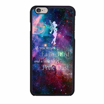tinkerbell flying galaxy quote iphone 6 6s 4 4s 5 5s 6 plus cases