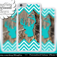 Aqua Chevrons Camo Iphone 6 Case Buck Head Antlers iPhone 5C 6 Plus Case iPhone 5s Ipod 4 5 Touch case Deer Real Tree Zig Zag