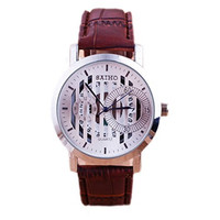 Men's Casual Classic Leather Wrist Band Strap Quartz Sports Gear Watch