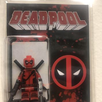 Block Minifigure Deadpool with Katana 2 Machine Guns