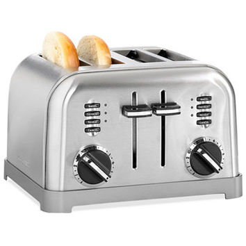 Cuisinart CPT-180 Toaster, 4-Slice Classic Brushed Chrome - Electrics - Kitchen - Macy's