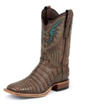 Tony Lama Mens Square VintageCaiman Belly Boot