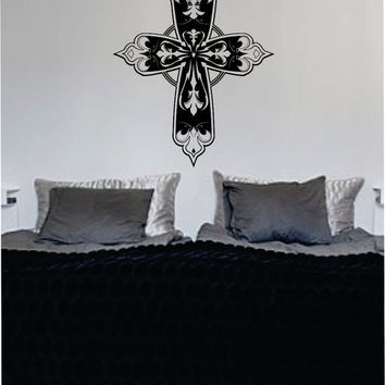Cross Version 2 Religious Decal Sticker Wall Vinyl Art Home Room Decor