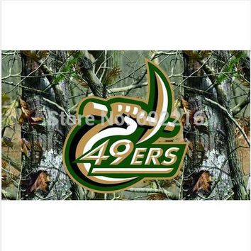 North Carolina Charlotte 49ers Camo College Large Outdoor Flag 3ft x 5ft Football Hockey Baseball USA Flag