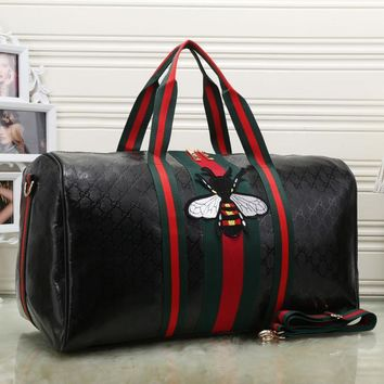 Day-First™ Gucci Women Fashion Leather Embroidery Luggage Travel Bags Tote Handbag