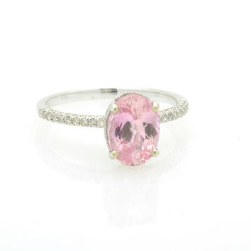 2 carat Padparadscha sapphire in a 100 diamond micro paves fine quality setting, engagement ring JOANNA_319PAD
