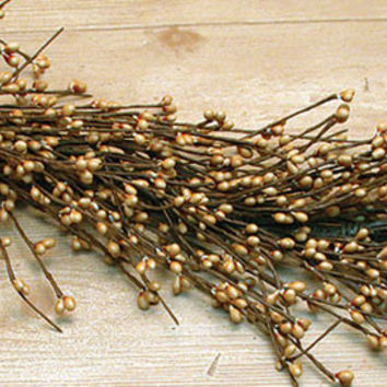 Old Gold Pip Garland, 4 ft.