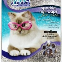 Amazon.com: Soft Claws for Cats, Size Medium, Color Gold Glitter: Pet Supplies