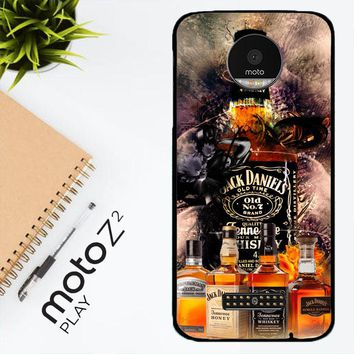 Jack Daniels Wallpaper X3402 Motorola Moto Z2 Play Case