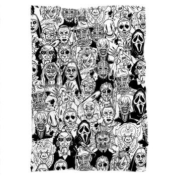 Horror Villains Blanket