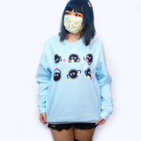 Susuwatari Fashion Blue/Pink Sweater inspired by Japanese Anime Spirited Away!